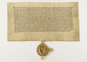 Kopie der Gründungsurkunde aus dem Jahr 1312 (im Besitz vom Staastarchiv Bremen).